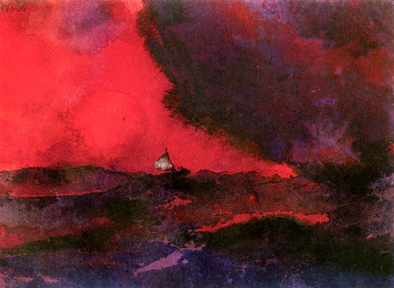 dark-red-sea-emil-nolde-c-1938-german