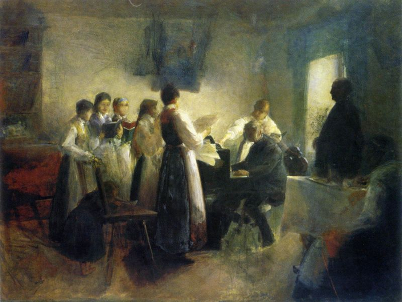 the-village-choir-anton-azbe-1900-slovenian
