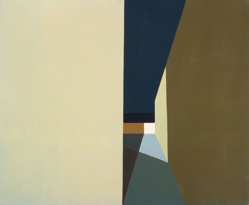 night-lights-and-shadows-helen-lundeberg-1959-american