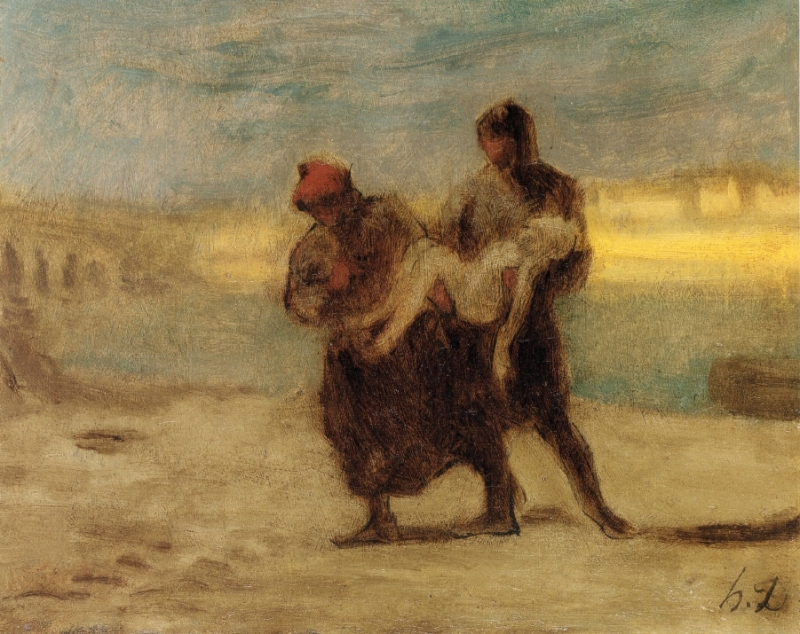 the-rescue-honore-daumier-french-1870